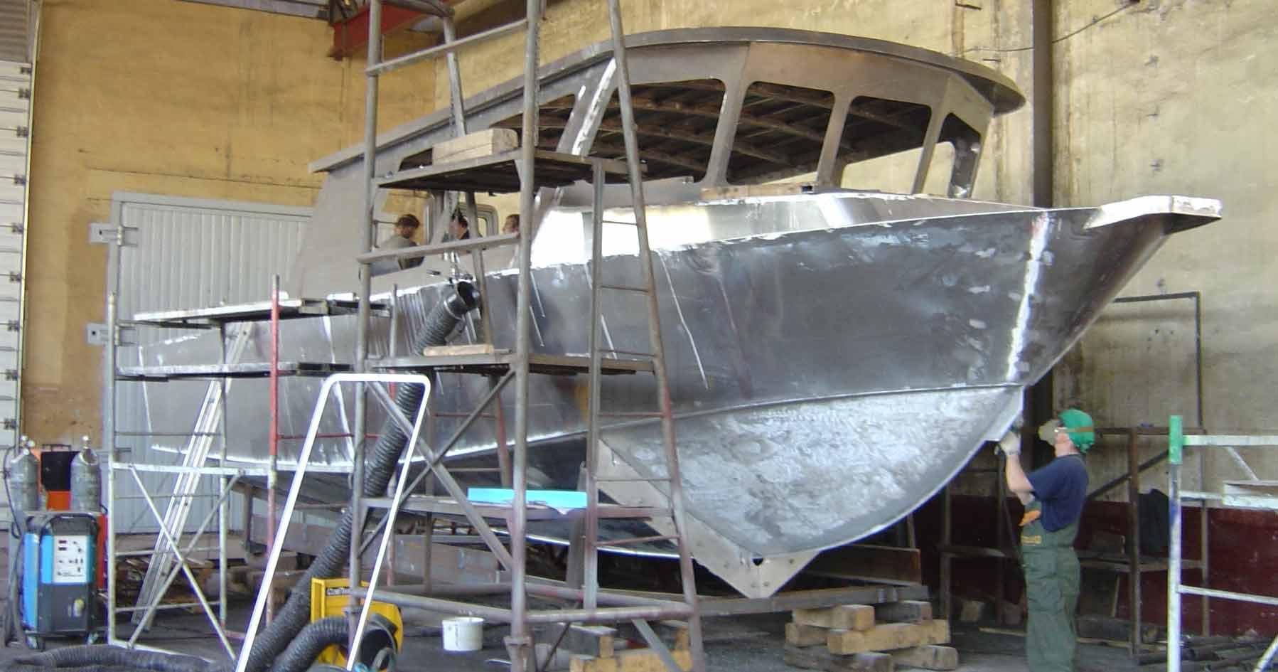 аллюминевый лодка видео