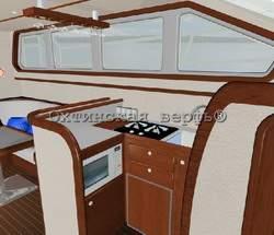 Планировка салона моторной яхты EURO 1400